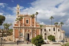 圣彼得教会在老贾法角 免版税图库摄影