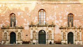 圣彼得教会门面在里加,拉脱维亚 库存照片