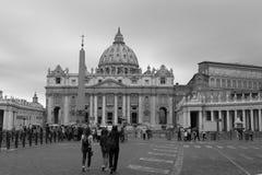 圣彼得的广场梵蒂冈,罗马 库存图片