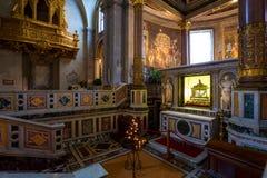 圣彼得罗在Vincoli教会里。罗马。意大利。 免版税库存照片