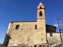 圣彼得罗Irpino -圣皮耶特罗阿波斯托洛教会  图库摄影
