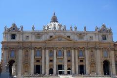 圣彼得Basiiica,圣彼得广场,罗马 免版税库存图片
