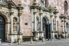 圣彼得churchs入口 拉脱维亚里加 免版税库存图片