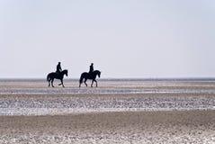 圣彼得Ording海滩  免版税图库摄影