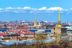 圣彼德堡、俄国彼得和保罗堡垒 免版税库存图片