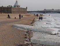 圣彼德堡冬天风景  库存图片