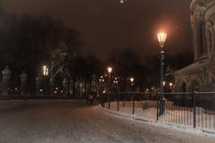 圣彼德堡建筑学  大教堂正方形在冬天 图库摄影