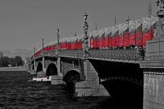 圣彼德堡桥梁 库存图片