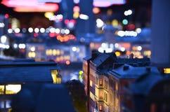 圣彼德堡的人为拷贝在晚上 免版税库存照片