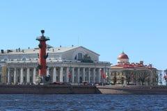 圣彼德堡的历史部分的美好的建筑学 图库摄影