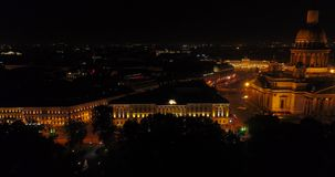 圣彼德堡的夜概略的视图 俄国 股票视频