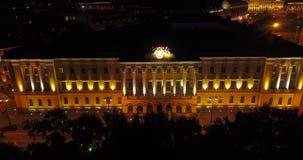 圣彼德堡的夜概略的视图 俄国 股票录像