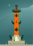 圣彼德堡的有船嘴装饰的专栏 免版税库存图片