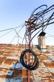圣彼德堡老屋顶  免版税库存照片