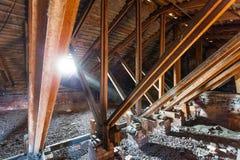 圣彼德堡老屋顶  免版税库存图片