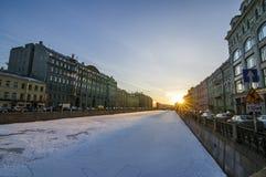 圣彼德堡街道  图库摄影