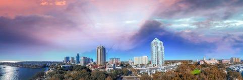 圣彼德堡鸟瞰图,佛罗里达 免版税库存照片