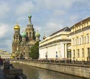 圣彼德堡,耶稣基督(Savi的复活大教堂  图库摄影
