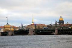 圣彼德堡,俄罗斯的历史市中心看法  免版税库存照片