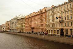 圣彼德堡,俄罗斯的历史市中心建筑学  库存图片