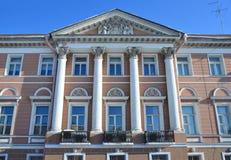 圣彼德堡,俄罗斯, 2018年2月, 27日 Fontanka河,房子18的堤防 Pashkov房子,豪宅Levashov, 183 免版税库存照片