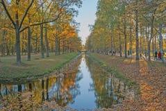 圣彼德堡,俄罗斯, 2015年10月21日:金黄秋天, Alexand 免版税库存照片