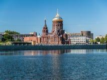 圣彼德堡,俄罗斯2018年6月:突然显现的教会在Gutu的 免版税库存照片