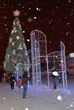 圣彼德堡,俄罗斯- 2017年1月02日:人们拍照片 图库摄影