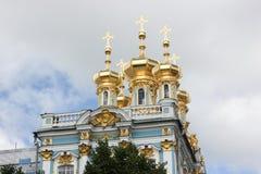 圣彼德堡,俄罗斯- 2014年7月10日:凯瑟琳宫殿,位于Tsarskoye Selo镇  库存照片