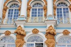 圣彼德堡,俄罗斯- 2014年7月10日:凯瑟琳宫殿,位于Tsarskoye Selo镇  免版税库存照片