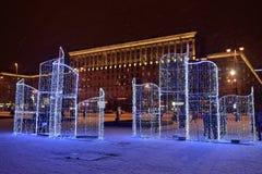 圣彼德堡,俄罗斯- 2017年1月02日:圣诞树和 图库摄影