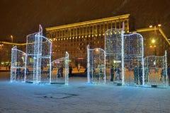 圣彼德堡,俄罗斯- 2017年1月02日:圣诞树和 库存图片