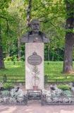 圣彼德堡,俄罗斯- 2017年8月19日:对最后俄国沙皇尼古拉二世的纪念碑被打开了1993年7月17日 图库摄影