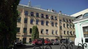 圣彼德堡,俄罗斯- 2019年6月18日:旅馆大厦在城市 股票视频