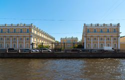 圣彼德堡,俄罗斯- 6月04 2017年 博物馆庄园Derzhavin Fontanka河, 118的堤防 免版税库存照片