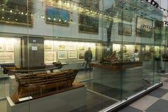 圣彼德堡,俄罗斯- 6月02 2017年 海军博物馆在Kryukov营房 免版税库存图片