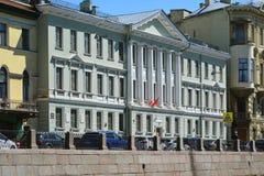 圣彼德堡,俄罗斯- 6月04 2017年 艺术性和审美学苑190,客商格罗莫夫前议院  免版税图库摄影