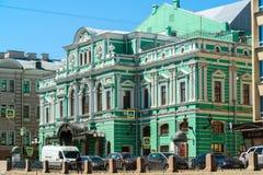 圣彼德堡,俄罗斯- 6月04 2017年 Bolshoi以Tovstonogov命名的戏曲剧院 免版税图库摄影