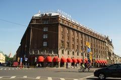 圣彼德堡,俄罗斯- 2016年6月01日:历史建筑Astoria旅馆 免版税图库摄影