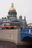 圣彼德堡,俄罗斯建筑学  圣徒Isaak ` s大教堂 库存图片