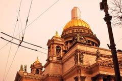 圣彼德堡,俄罗斯建筑学  圣徒Isaak ` s大教堂 免版税库存图片
