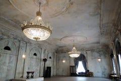 圣彼德堡,俄罗斯建筑学  帕尔马画廊内部  库存照片