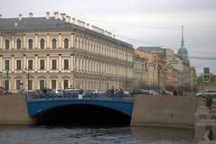 圣彼德堡,俄罗斯建筑学  Moyka河embank 免版税库存图片