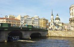 圣彼德堡,安娜女预言者教会和Simenon 库存图片