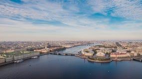 圣彼德堡,市中心鸟瞰图  免版税图库摄影