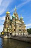 圣彼德堡,耶稣基督大教堂血液的 库存图片