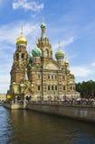 圣彼德堡,耶稣基督大教堂血液的 库存照片