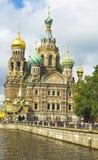 圣彼德堡,耶稣基督(Savio的复活大教堂  库存图片