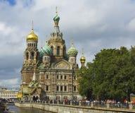 圣彼德堡,耶稣基督(Savio的复活大教堂  图库摄影