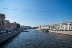 圣彼德堡,运河视图 库存照片